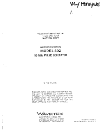 Wavetek-11137-Manual-Page-1-Picture