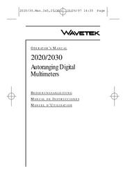 Manual del usuario Wavetek 2020