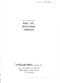 Serwis i User Manual Wavetek 2001