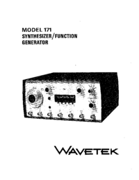 Service and User Manual Wavetek 171