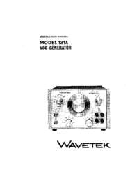 Service and User Manual Wavetek 131A