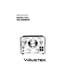 Servizio e manuale utente Wavetek 131A