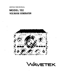 Service and User Manual Wavetek 132