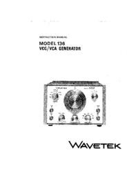 Manuale di servizio Wavetek 136