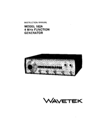 Service and User Manual Wavetek 182A