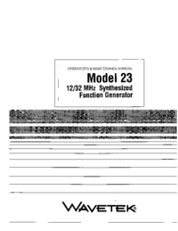 Wavetek-2758-Manual-Page-1-Picture