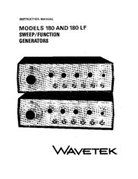 Service and User Manual Wavetek 180