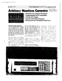 Datasheet Wavetek 175