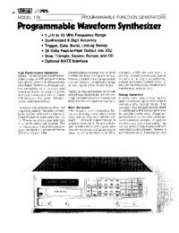 Datenblatt Wavetek 178