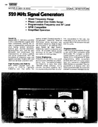 Технический паспорт Wavetek 3002