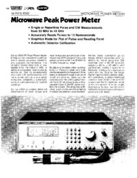 Datasheet Wavetek 8500 Series