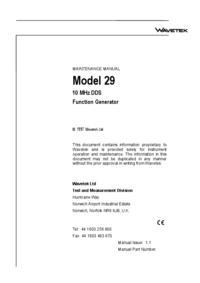 Manuale di servizio Wavetek 29
