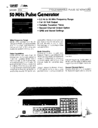 Wavetek-6409-Manual-Page-1-Picture