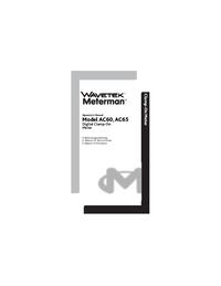 Manual del usuario Wavetek AC60