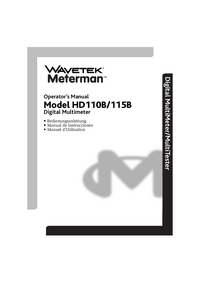 User Manual Wavetek HD115B