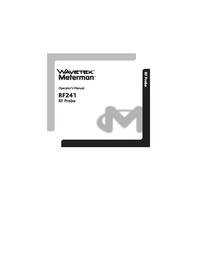 Manuale d'uso Wavetek RF241