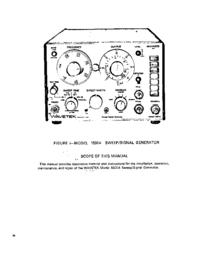 folha de dados Wavetek 1801A