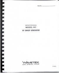 Wavetek-6425-Manual-Page-1-Picture