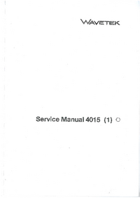 Wavetek-6426-Manual-Page-1-Picture