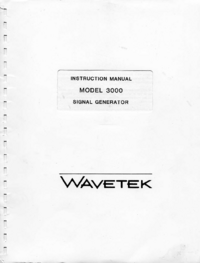 Service and User Manual Wavetek 3000