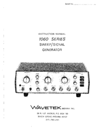 Servicio y Manual del usuario Wavetek 1062