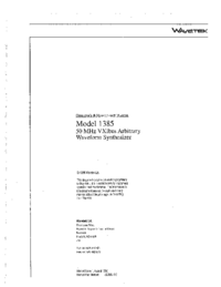Wavetek-8309-Manual-Page-1-Picture