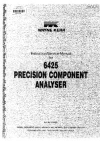 Instrukcja obsługi Wayne_Kerr 6425