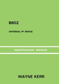 Service Manual Wayne_Kerr B602