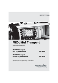 User Manual Weinmann MEDUMAT Transport WM28300