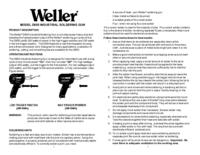 Bedienungsanleitung Weller D650