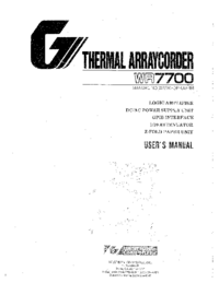 Manual del usuario WesternGraphitec WR7700