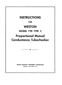 User Manual Weston 798 Type 2