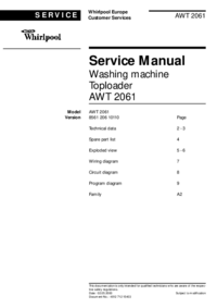 Service Manual Whirlpool AWT 2061
