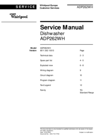 Serviceanleitung Whirlpool ADP262WH