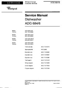 Manual de servicio Whirlpool ADG 684/6