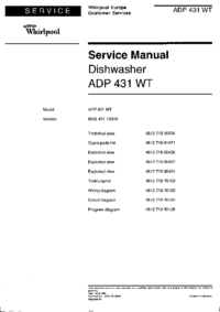 Service Manual Whirlpool ADP 431 WT