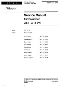 Руководство по техническому обслуживанию Whirlpool ADP 431 WT