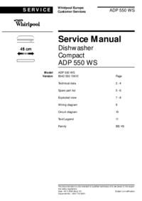 Serviceanleitung Whirlpool ADP 550 WS