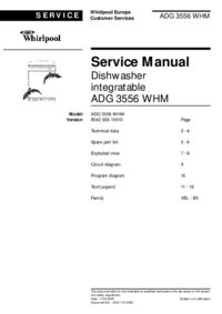 Manual de servicio Whirlpool ADG 3556 WHM