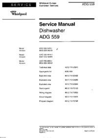 Руководство по техническому обслуживанию Whirlpool ADG 559