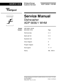 Manual de servicio Whirlpool ADP 5656/1 WHM