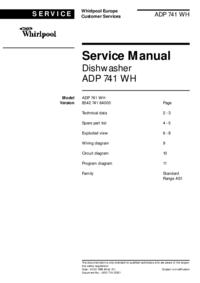 Manual de serviço Whirlpool ADP 741 WH