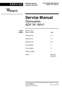 Service Manual Whirlpool ADP 741 WH/1