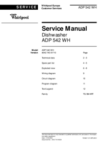 Instrukcja serwisowa Whirlpool ADP 542 WH