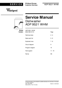 Manual de servicio Whirlpool ADP 952/1 WHM
