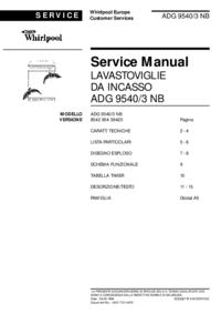 Servicehandboek Whirlpool ADG 9540/3 NB