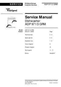 Servicehandboek Whirlpool ADP 971/3 GRM