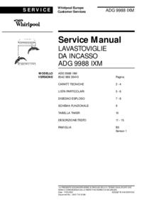 Manuale di servizio Whirlpool ADG 9988 IXM