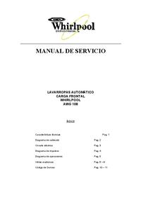 manuel de réparation Whirlpool AWG108
