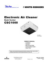 Manual del usuario WhiteRodgers CSC1000